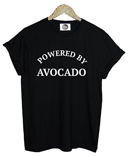 Powered By Avocado T-shirt Top Fun Men's Women's Tumblr Vegan