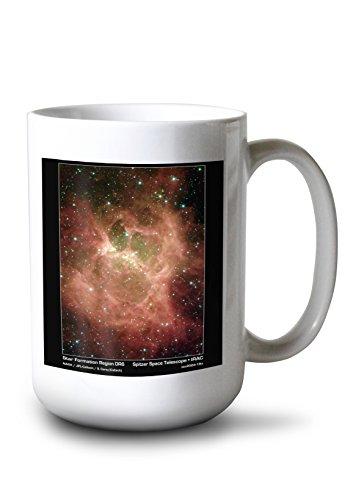 Lantern Press Star Formation in Region DR6 Photograph (15oz White Ceramic Mug) ()