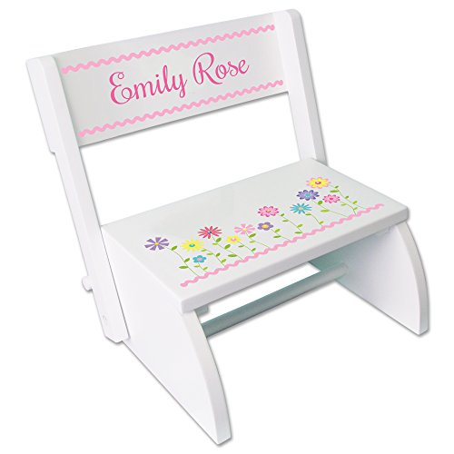 Personalized White Stemmed Flowers Folding product image