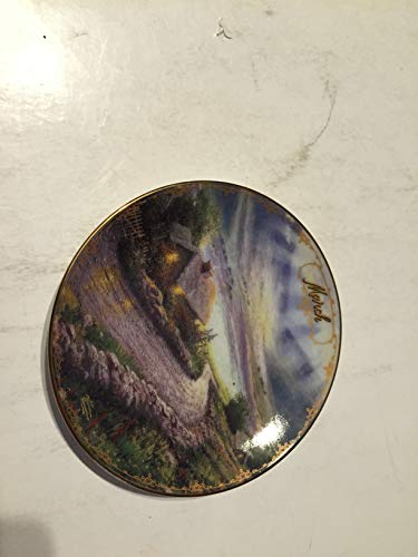 BRADFORD EXCHANG March Emerald ISLE Cottage Thomas Kinkade Collector Plate Small 5 1/2 INCHES