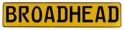 Aluminum Broadheads - Vintage Parts 599176 Broadhead Yellow Stamped Aluminum Street Sign Mancave Wall Art