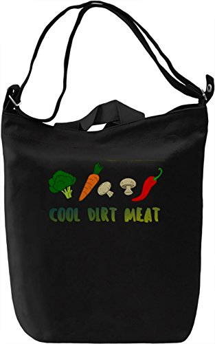 Cool Dirt Meat Borsa Giornaliera Canvas Canvas Day Bag| 100% Premium Cotton Canvas| DTG Printing|