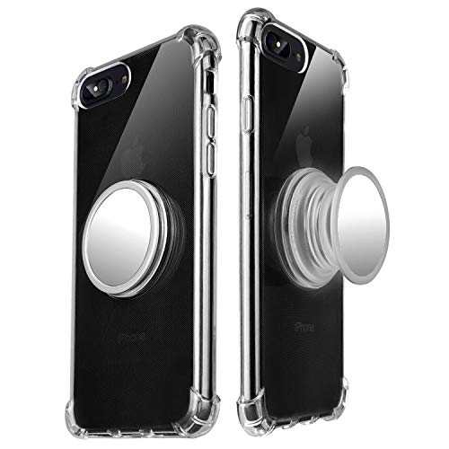 - DaRMaoy iPhone 7Plus/8Plus Case with 360° Rotating Round Stand, Compatible with Magnetic Car Anti-Fingerprint Drop-Proof TPU Slim Case for iPhone 7Plus/8Plus (Transparent)