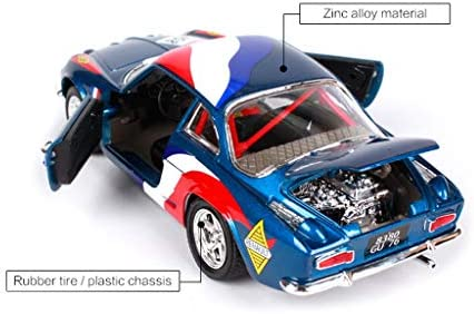 YANGFH Modellauto Renault A110 1600S Modell 1:24 Simulation Druckgusslegierung Spielzeugauto Simulationsauto 18x7.2x5.3CM Auto Model