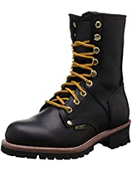 AdTec Womens 9 Logger Black Work Boot