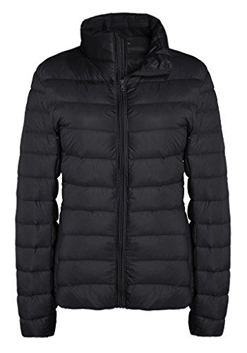 ZSHOW Women's Outwear Down Coat Lightweight Packable Powder Pillow Short Down Jacket, US Medium, Black