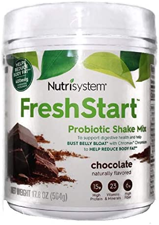 NUTRISYSTEM FRESH START SHAKE (Probiotic Bust Belly Bloat) CHOCOLATE SHAKE MIX 17.8 OZ – 14 Servings – Support Digestive Health & Help Bust Belly Bloat