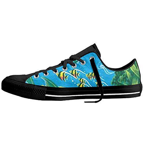 Top Print Breathable Black Shoes Turtle Sneaker Canvas Unisex Swimming Low Sqdvd