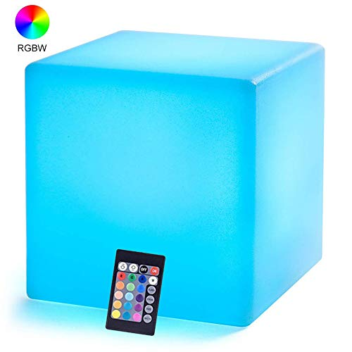 Light Up Cube (LOFTEK LED Light Cube : 4-inch RGB 16 Colors Cool Cube Lights with Remote Control, MCU Tesseract Mood Lamp, IP65 Waterproof and USB Charging Beside Desk Lamp,Perfect for Kids Nursery)