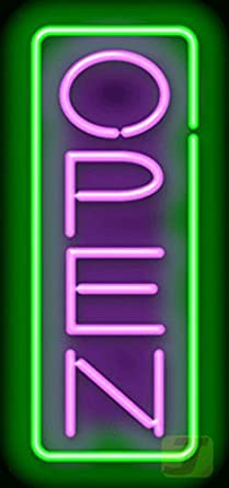 Amazon.com: Vertical Neon Open Sign - Purple & Green: Industrial