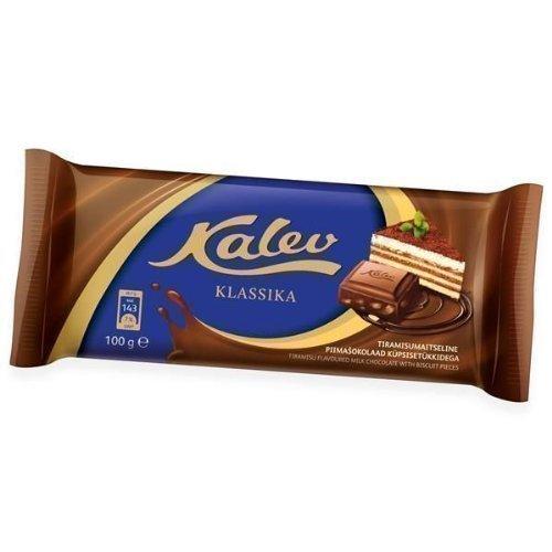 [Pack de 4] Kalev tiramisú Sazonado Chocolate Con Leche con Galleta Piezas 100g: Amazon.es: Alimentación y bebidas