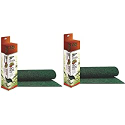 2 Pack - Zilla Reptile Terrarium Bedding Substrate Liner, Green, 55 Gallon