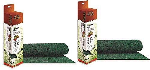 - 2 Pack - Zilla Reptile Terrarium Bedding Substrate Liner, Green, 55 Gallon