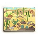 Desert Animals Wood Sign 14x20 (36cm x 51cm) Planked