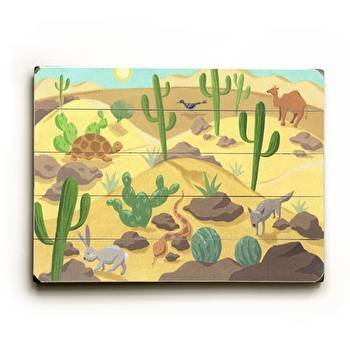 Desert Animals Wood Sign 9x12 (23cm x 31cm) Solid