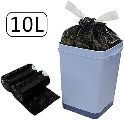 Dynko 10L Bolsas De Basura, Negro, 110 Bolsas / 2 Rollos ...