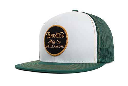 Brixton Men's Wheeler Medium Profile Adjustable Mesh Hat, Chive, One (Green Mesh Hat)