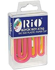 RİO 603 Plastik Renkli Büyük Boy Ataş