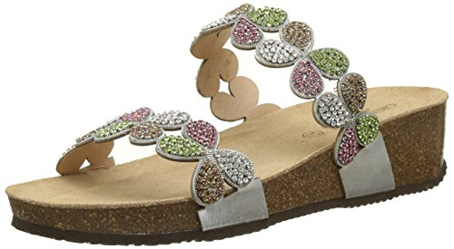 Beach Shoes and Multicolour Agml Pearl Argento Grunland Women's Multi Smoked Pool Anin ZxAAXf