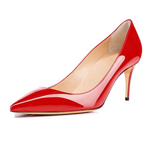 Tacco Rosso Col Scarpe Spillo Scarpe a Alti Donna Tacco Classiche Col Tacchi 65 mm uBeauty Scarpe da con Tacco zUqwg
