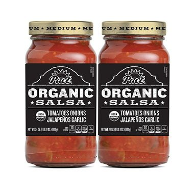 Pace Organic Medium Salsa (24 oz. jar, 2 pk.) by Europe Standard