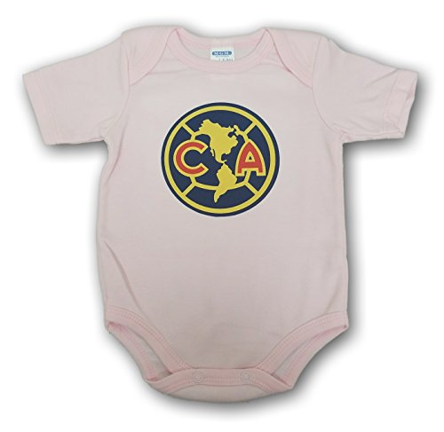 ESF Club America Baby Bodysuit Mameluco Jumpsuit Exclusive Design (6-9 Months, Pink) - Exclusive Club