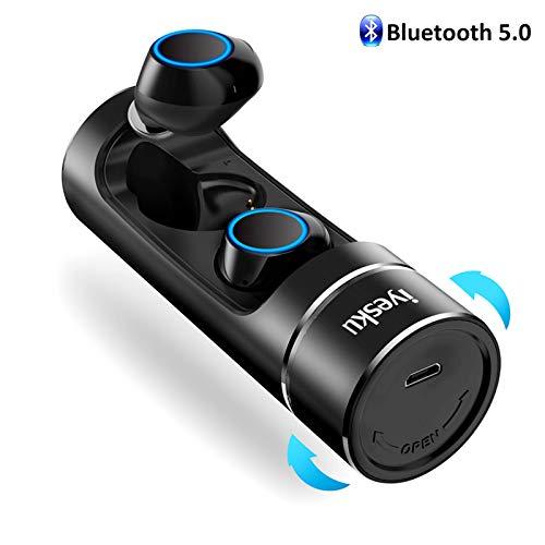 Wireless Bluetooth Earbuds Headphones, iyesku True Wireless Earbuds Audifonos Bluetooth 5.0 IPX5 15H Playtime Auto Pairing Binaural Mic, Built in-Ear Mini Earphones Headset Earpieces, YK-T08