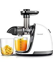 AMZCHEF Slow Juicer BPA-fri juicepress mugg och frukt proffs juicepress med lugn motor & vändfunktion & juicekanna & rengöringshäll? Blomkruka: 150 watt/elfenben?