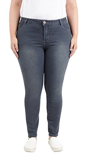 pantaloons Chocolate 44 Stretchy les Dames 5 Pickle Maigre Pantalon 50 Anthracite Nouveau Plus Denim jeans Taille Empocher F6OrF
