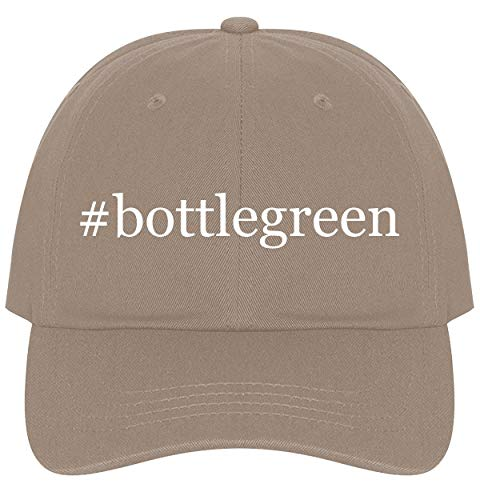 The Town Butler #bottlegreen - A Nice Comfortable Adjustable Hashtag Dad Hat Cap, Khaki, One Size