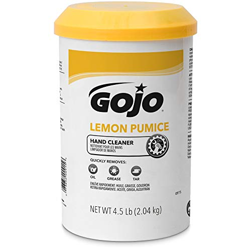 GOJO Crème-Style Hand Cleaner with Pumice, Lemon Scent, 4.5 Pounds Hand Cleaner Canister (Case of 6) - 0915-06 by Gojo (Image #2)