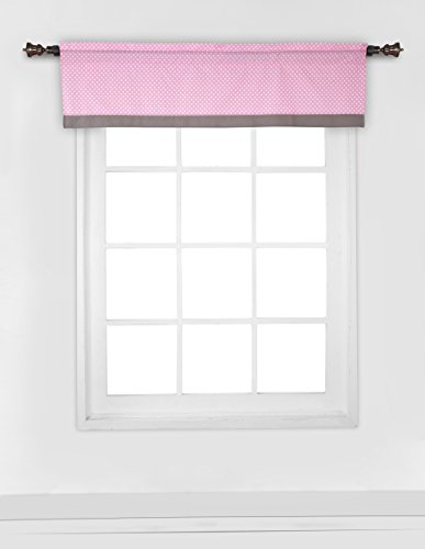 Elephants Pink/Grey Window Valance