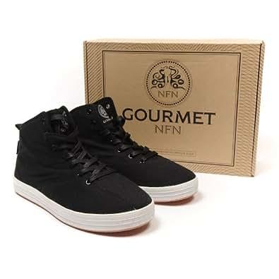 GOURMET NFN - Zapatillas de skateboarding para hombre negro negro