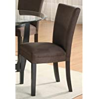 Coaster Home Furnishings 101496 Casual Dining Chair (Set of 2), Cappuccino/Chocolate