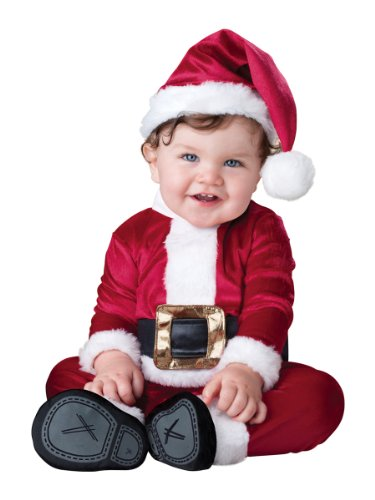 InCharacter Costumes Baby's Baby Santa Costume, Red/White, Small(6-12 -