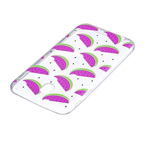 Funda para Samsung Galaxy J7 2017 (Solo disponible en versiones europeas) , IJIA Transparente Unicornio Nubes TPU Silicona Suave Cover Tapa Caso Parachoques Carcasa Cubierta para Samsung Galaxy J7 201 HX54