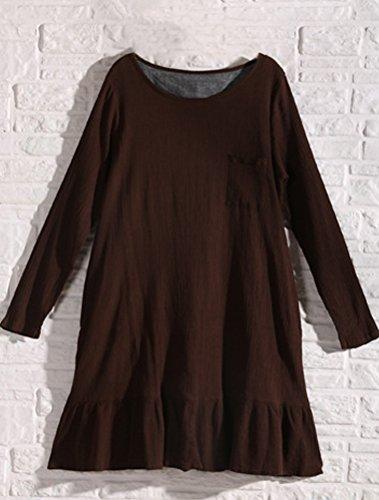 MatchLife - Vestido - vestido - para mujer café
