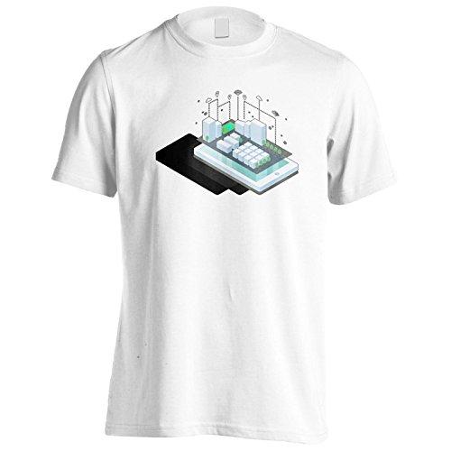 Neues Mobiles Mit Smart City Herren T-Shirt l872m