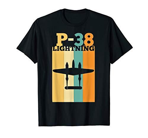 Vintage Warbird P-38 Lightning Fighter Airplane T-Shirt ()