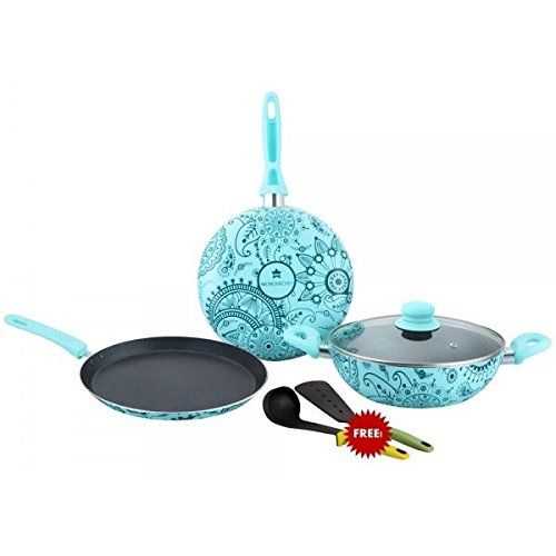 Wonderchef Oscar Blu Doppio Aluminium Cookware Set,