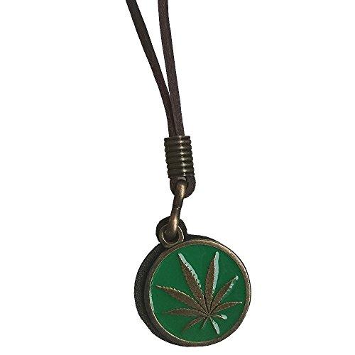 Ebsem Peace - Ying Yang - Hemp Necklace, Genuine Leather Cord Surfer Jewelry for Men & Women (Hemp Green)