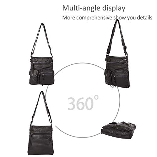simple body over bags Women shoulder hobo DORIS Black NICOLE messenger handbags the Cross amp; bags zBYwXZ