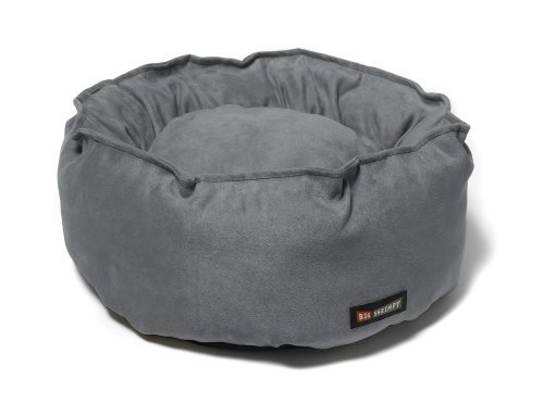 Big Shrimpy Catalina Faux Suede Bed for Cats and Small Dogs, Clay by Big - Shrimpy Big Bed Catalina