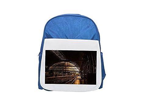 Mochila para niños con estampado de tren, riel, ferrocarril, mochila, mochilas lindas