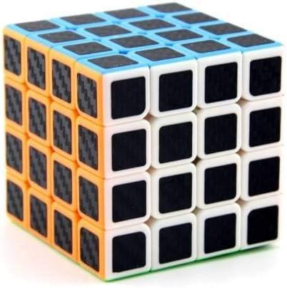 Mickleys The Carbon 4x4 Cube 6 cm Plastic Brain Cube Twist & Anti-Stress Game Puzzle (1 Pieces)