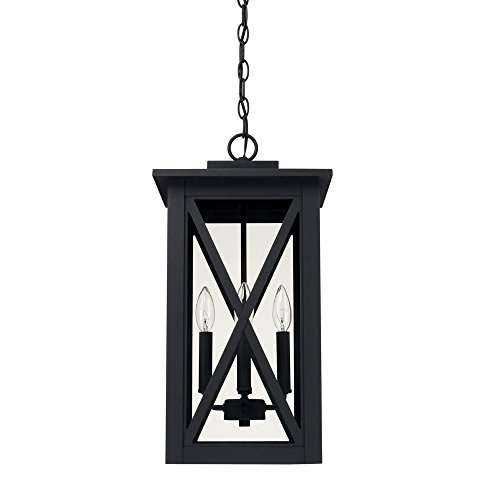 Capital Lighting 926642BK Avondale - Four Light Outdoor Hanging Lantern, Black Finish with Clear Glass - Capital Lighting Traditional Lantern