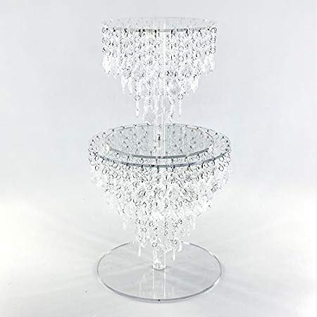 Acrylique à secteurs support mariage 5 étages etagere alu ø 28 cm cristal rond décoration