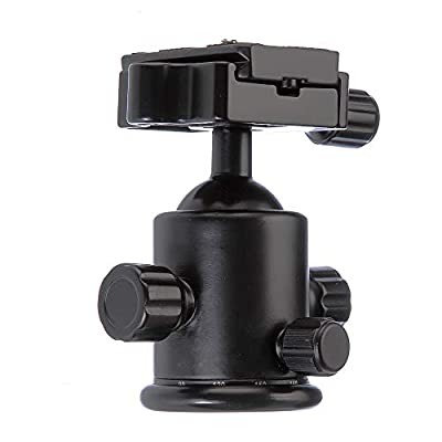 """Foto4easy Metal Photography Camera Tripod Ball Head 360 Degree Rotating Panoramic Ball Head with 1/4"""" Screw Quick Release Plate for DSLR Camera Camcoder from Foto4easy"""