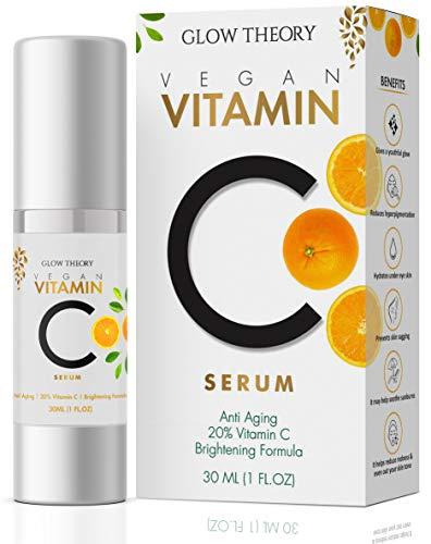 GLOW THEORY Premium Vitamin C Facial Serum for glowing skin – Anti Wrinkle & Anti Ageing with Skin Brightening Formula…