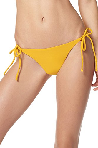 EBW Women's Collection Classic Tie Side Hipster Bikini Bottom Sunflower S ()